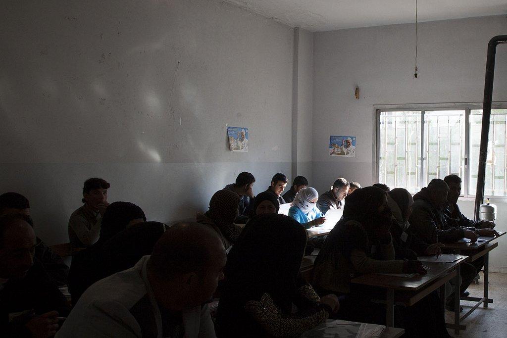 Hygiene training. Syrian refugees Kaa medical center