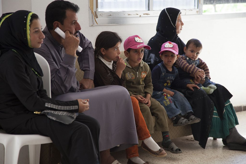 Syrian refugees Kaa medical center